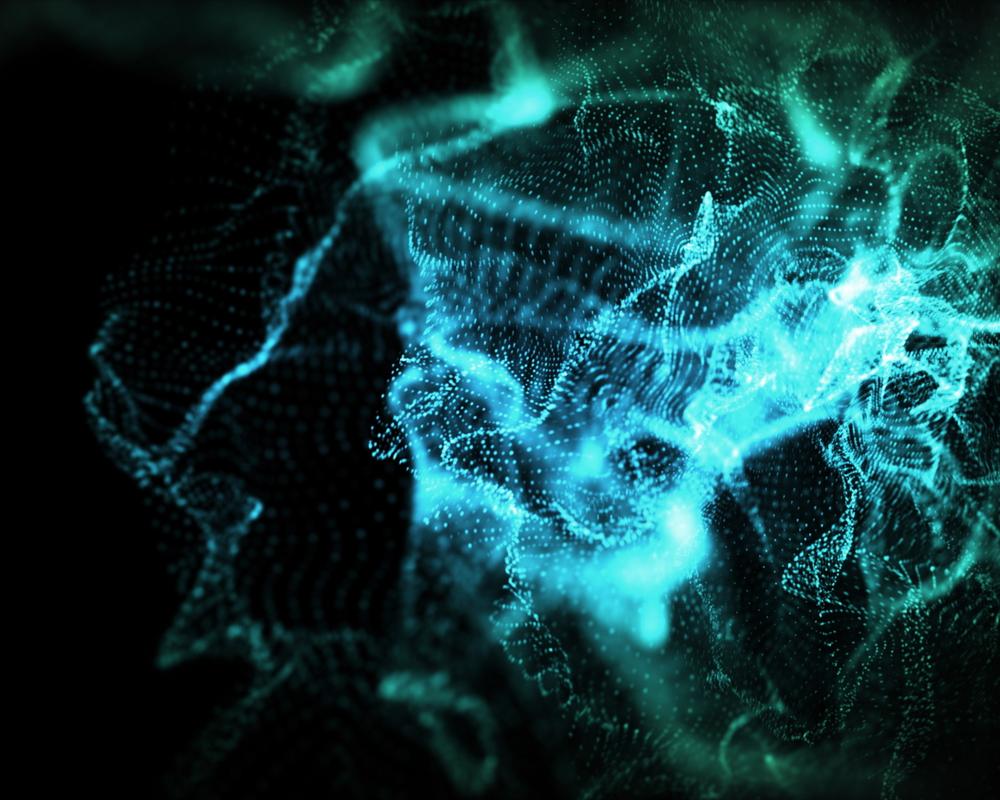 Background of indefinite shapes of blue lights
