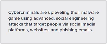 malware - cybercriminals